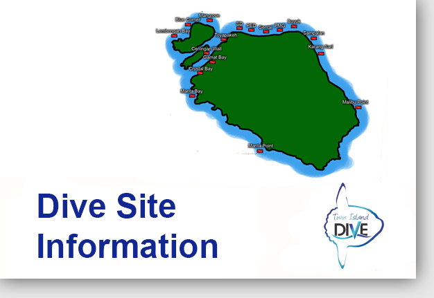 Dive Site Map - Fun Diving in Lembongan