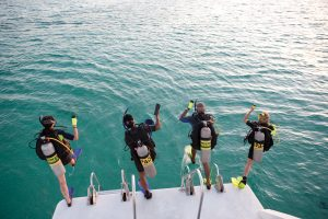 PADI Divemaster - Entering the water