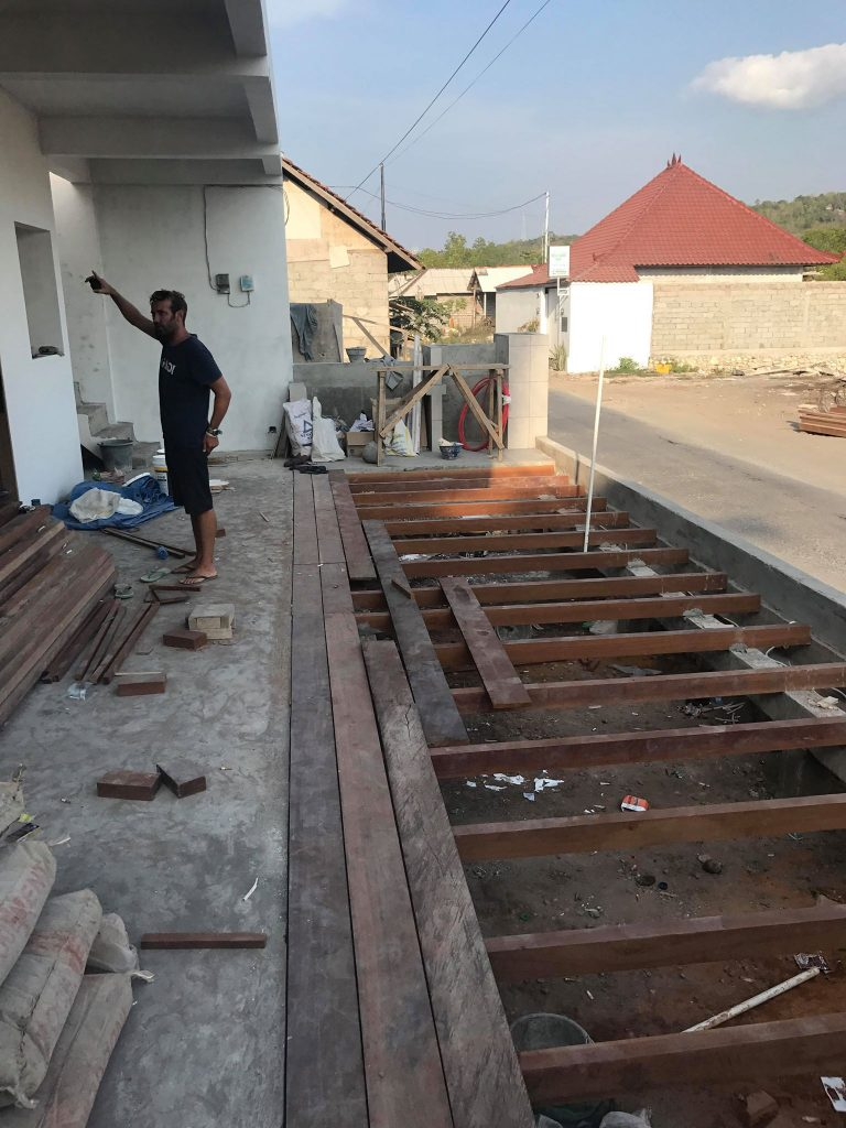 The Deck Going in at Twin Island Dive's New Dive Centre in Lembongan