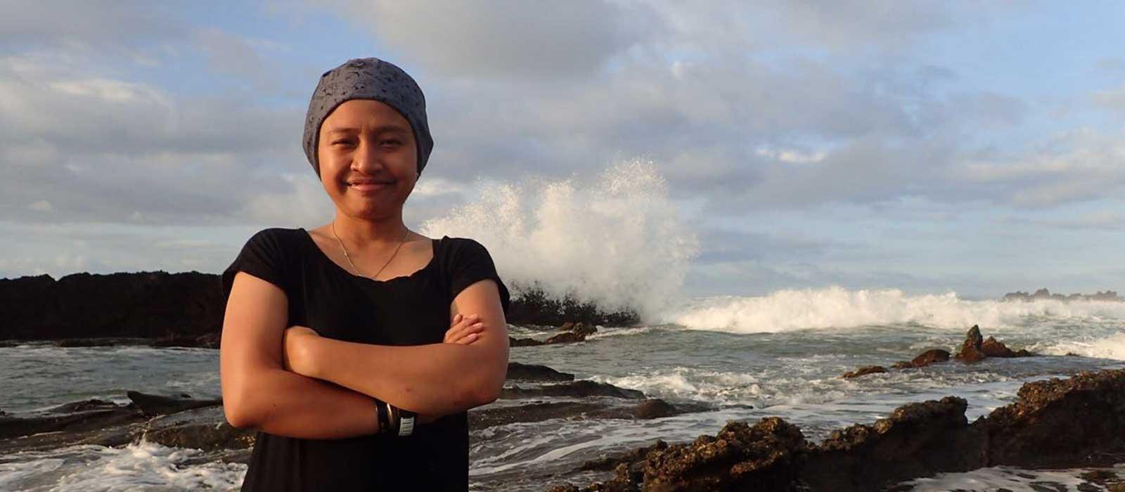PADI Divemaster Internship in Lembongan - Amanda exploring the land